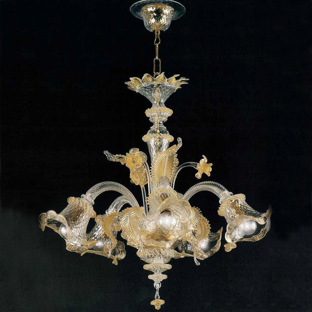 Lampadario di murano lo 3069 5 lp primaluce lampadari for Lampadario vetro murano moderni