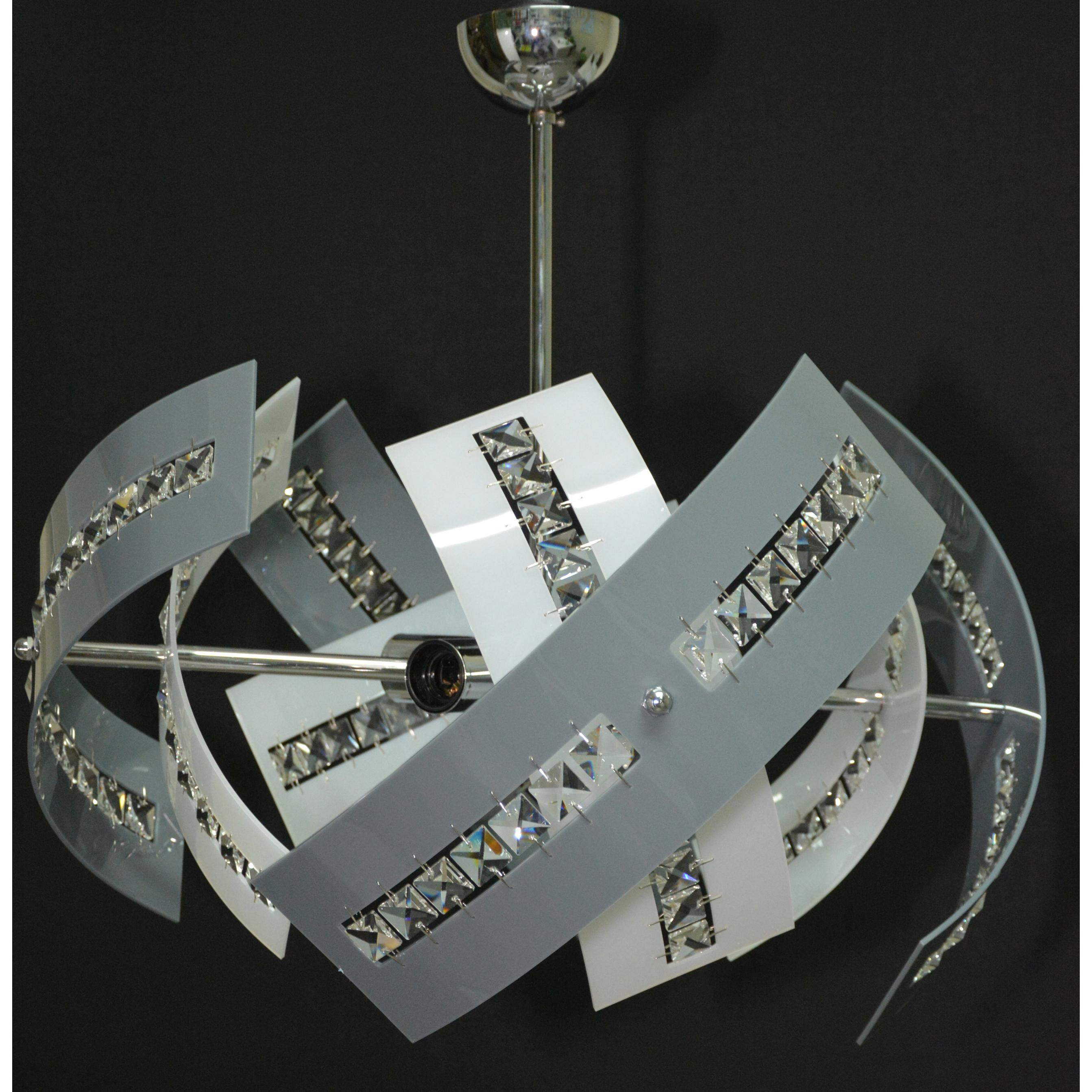 lampadari in plexiglass : LAMPADARIO IN PLEXIGLASS A FASCE(OL-01-4-SP) Primaluce Lampadari