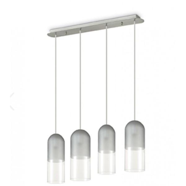 sospensione-moderna-4-luci-mild-sp4-grigio-ideal-lux